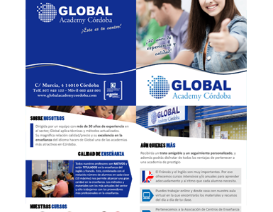 Díptico Global Academy Cordoba